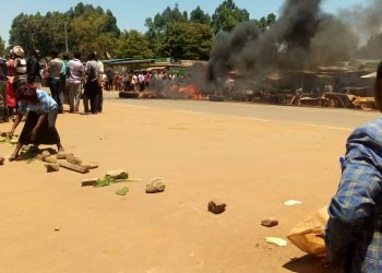 Kiminini residents engaged in running battles with police officers