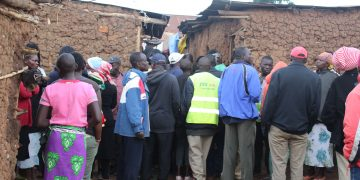 Kipsongo residents at the scene