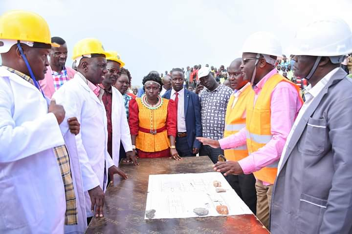 Deputy President William Ruto accompanied by other leaders during his West Pokot visit on Monday