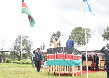 Nandi Governor Stephen Sang during the Mashujaa Day celebrations