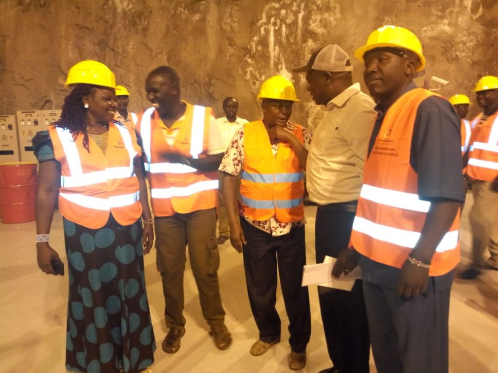 Kapenguria MP Samuel Moroto and officials from the energy committee