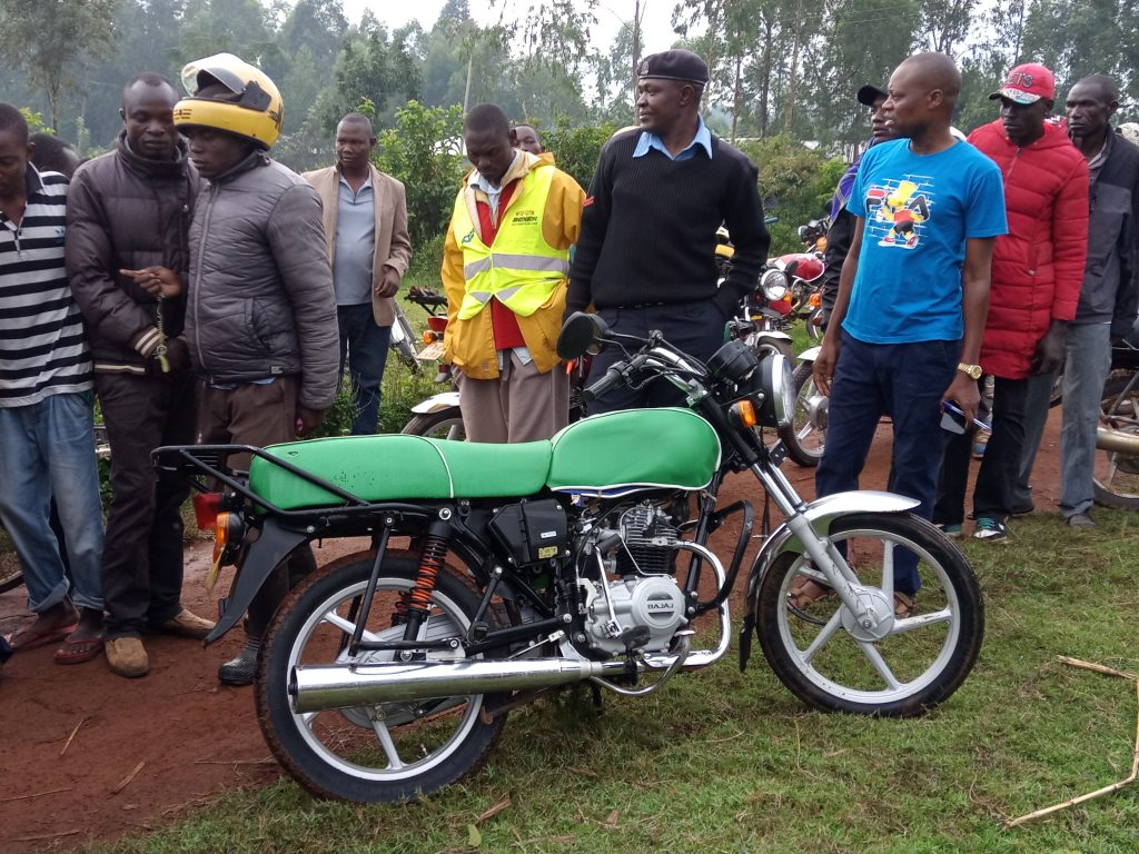 The motorbike belonging to the boda boda operator killed by thugs
