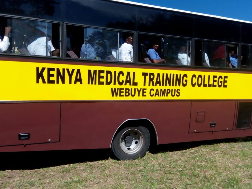 The bus which was presented to Webuye KMTC