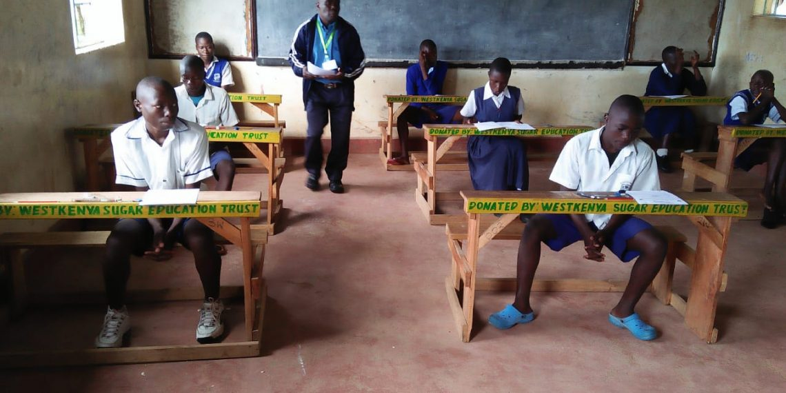 Candidates at Shamberere primary school ready for the exam