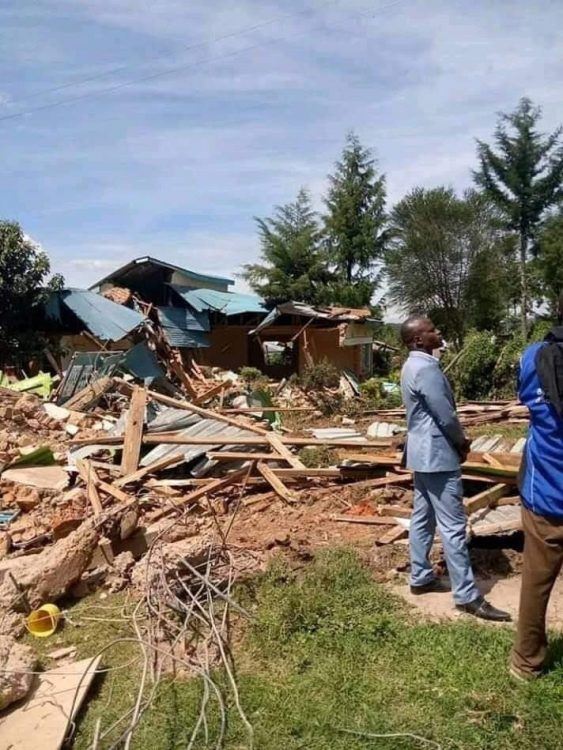 Remains of a destroyed house after the eviction. Photo/Courtesy