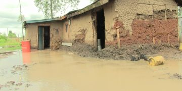 A house affected by flooding in Namanjala