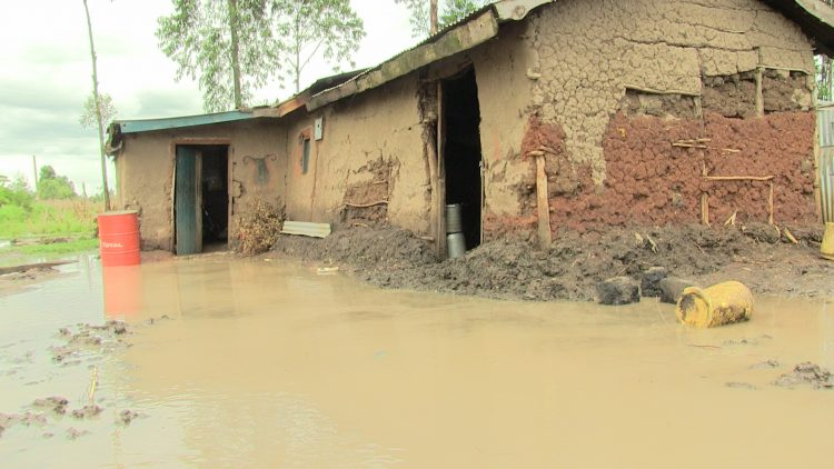 A house affected by flooding after heavy rains in Namanjala, Trans Nzoia County in October