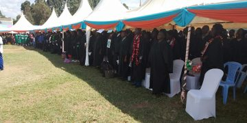 A section of graduands who graduated from Lugari Diploma Teachers Training College