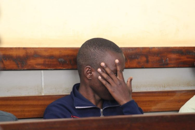 The suspect, Mustafa Idd, at Kitale high court