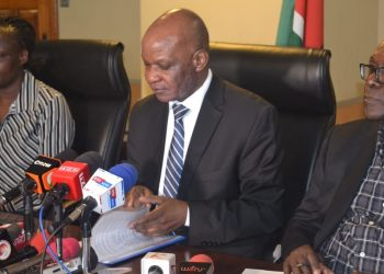 Social Protection PS Nelson Marwa addressing the press