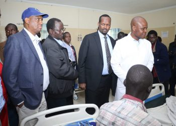 The Governors led by West Pokot Governor John Lonyangapuo visited the victims