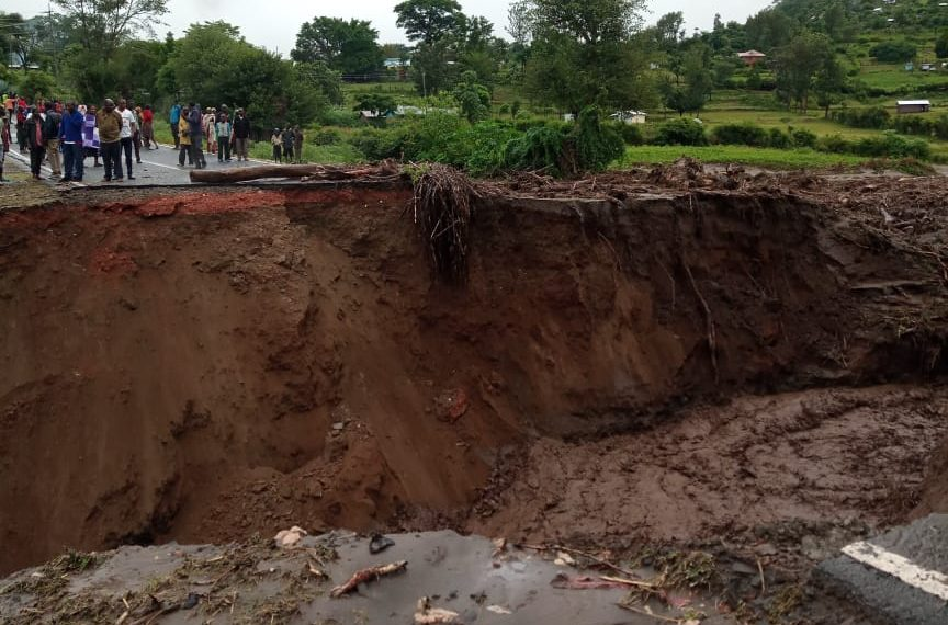 The Kitale-Lodwar road has been affected after heavy downpour
