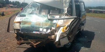 The Matatu that was involved in the accident