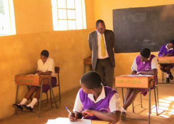The PS inspecting examinations progress at St. Elizabeth Girls Likuyani