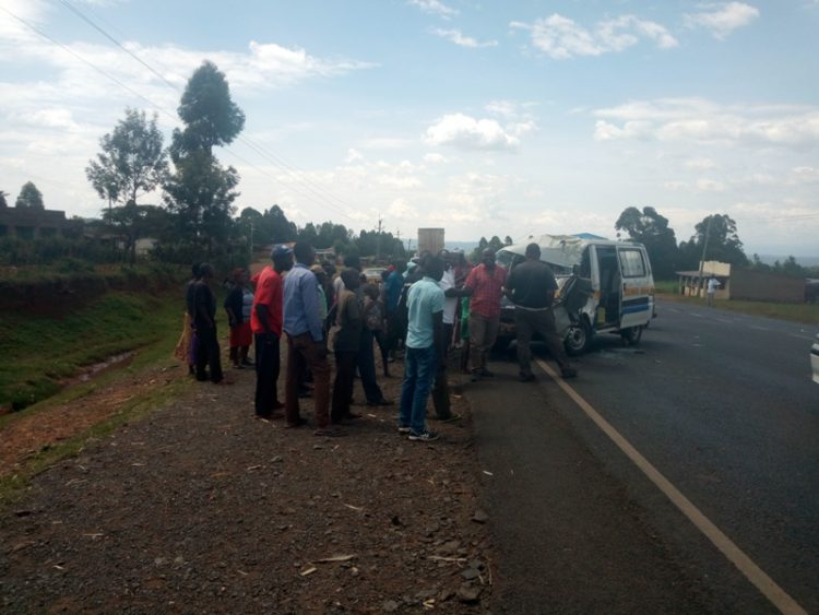 Residents at the scene of the accident