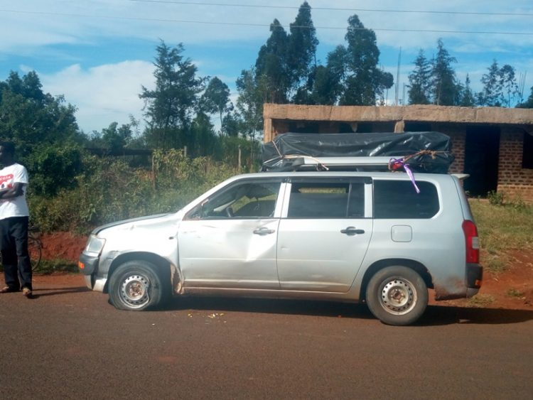 The vehicle that was involved in the accident