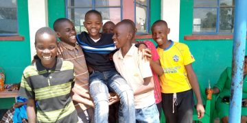 Pupils of Sambu Central in Webuye East Constituency celebrates their results