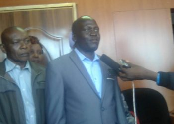 National IDPs Network secretary general Raphael Eyanai speaking to the press