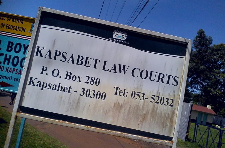 At the Kapsabet Law Courts