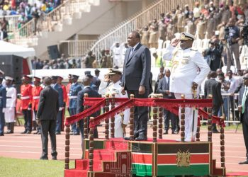 President Uhuru Kenyatta during the 56th Jamhuri Day fete. Photo/PSCU