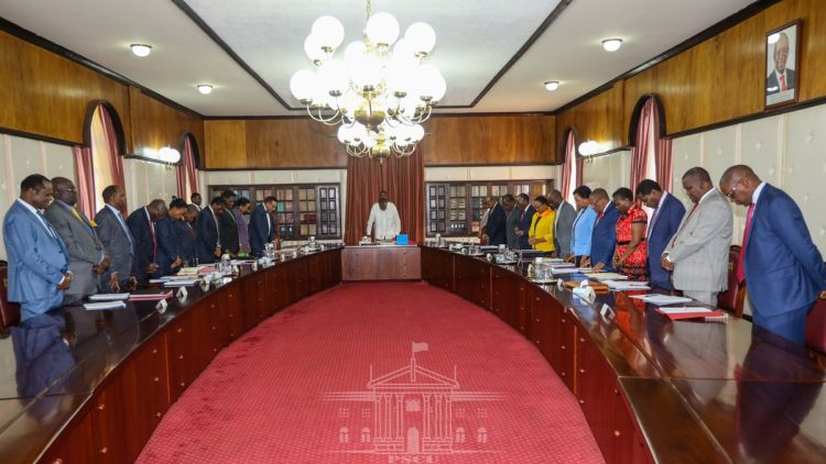 The Cabinet Meeting was chaired by President Uhuru Kenyatta. Photo/PSCU