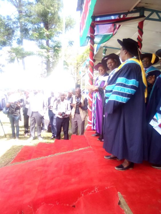 MMUST Chancellor Dr. Peter Muthoka urged the graduands to use the skills they've acquired to fit themselves in the job market
