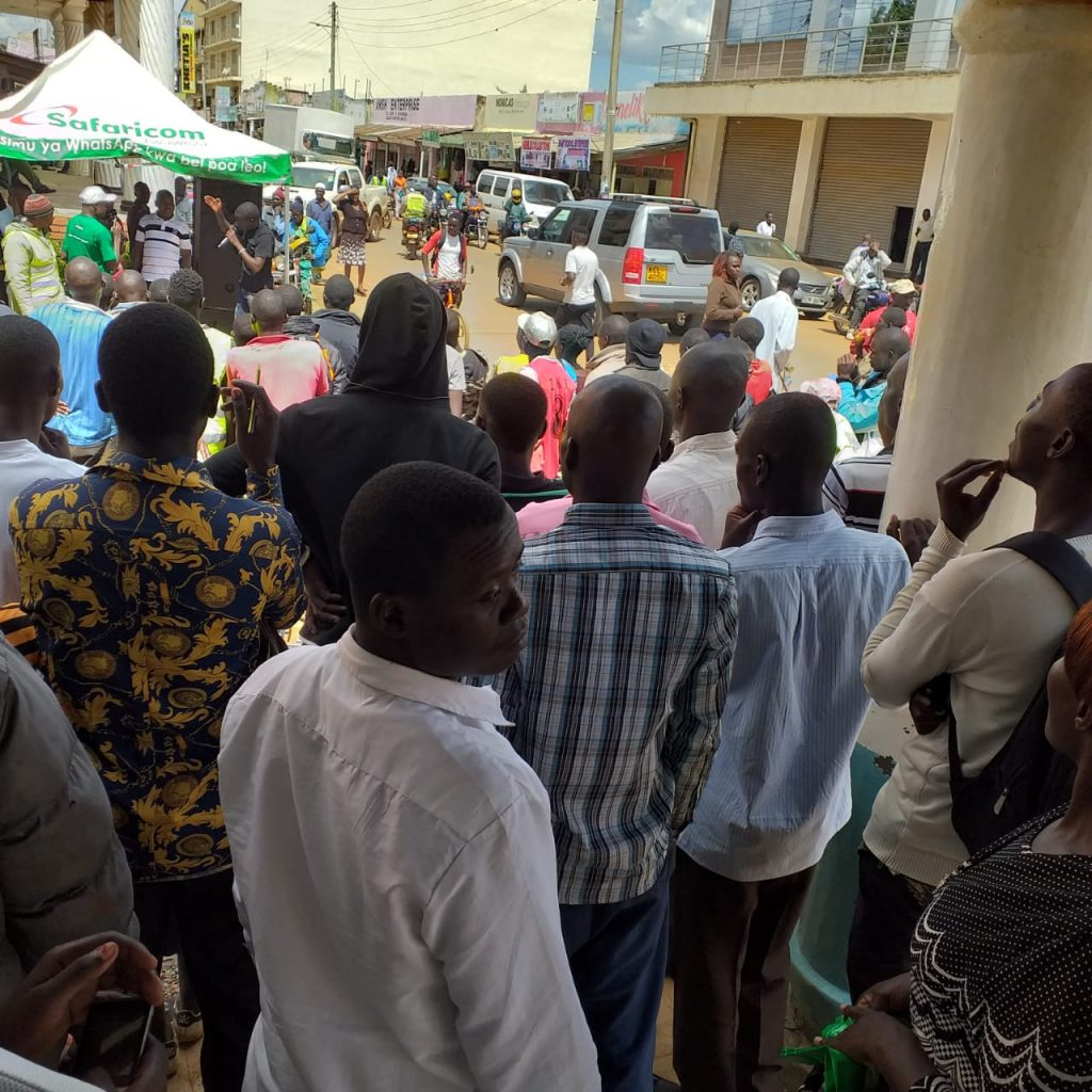 Fans and customers present at the open day
