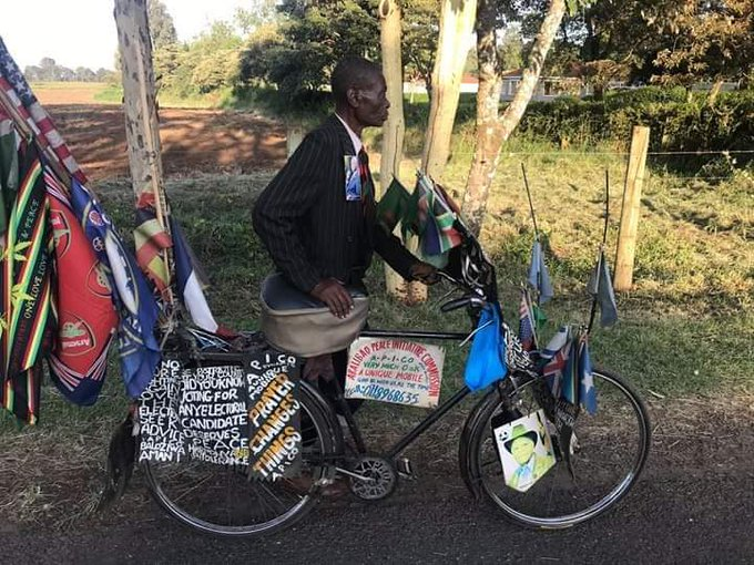Ambuti cycled more than 200 KM from Butere to attend Mzee Moi's funeral