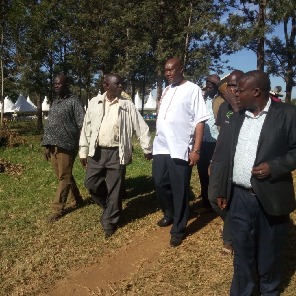Busia Governor Sospeter Ojaamong (centre) and other leaders were present