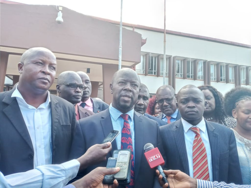 Governor Khaemba speaking after making his speech in the assembly