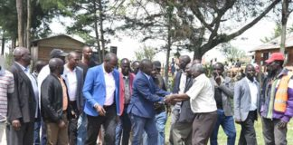 Nandi Governor Stephen Sang at Olessos interacting with residents