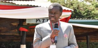 PLO Lumumba speaking in Koitalel Samoei University College in Nandi