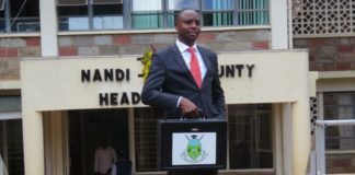 Nandi Finance CEC Alfred Lagat