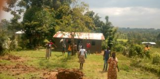 Railway residents at the home of Mzee Maritim