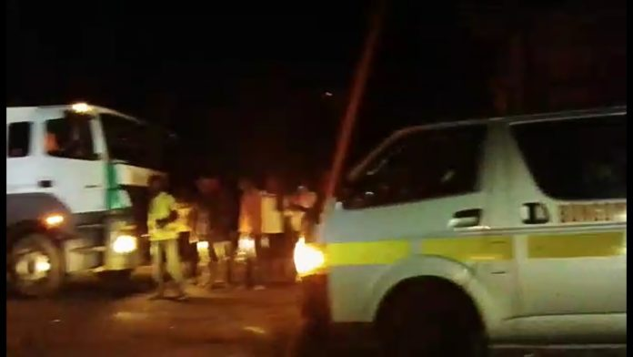 The scene of the Lwandeti accident