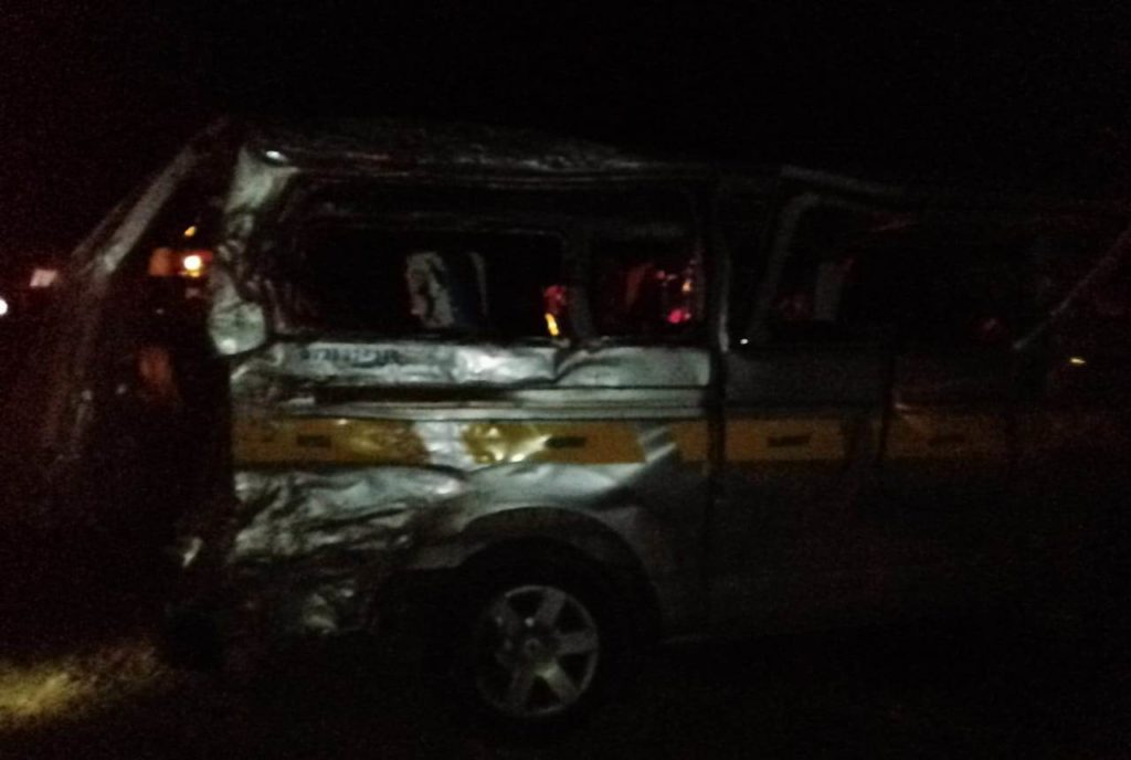 The scene of the accident at Lwandeti
