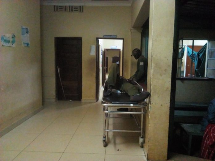 A patient at the Bungoma County Referral Hospital