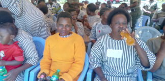 A section of Korinda women prisoners during the celebrations