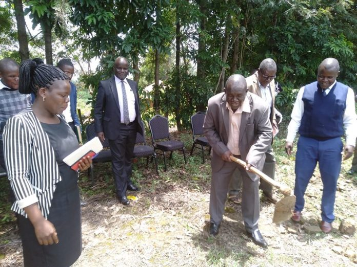 Bungoma Health CEC Dr. Anthony Walela during the ground breaking for the Mumbule maternity ward construction