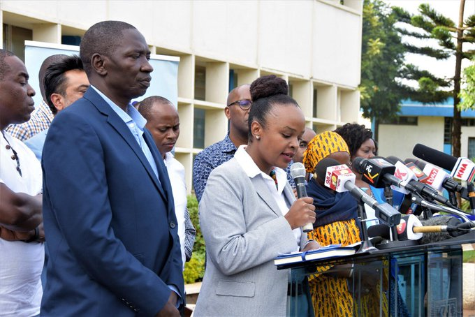 Health CAS Dr. Mercy Mwangangi issuing a press update. Photo/Courtesy