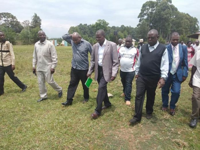 Lugari residents and leaders at the JKUAT Lugari campus