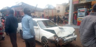 The salon car that collided with the lorry