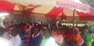 Some of Mumbo FM fans condoling with one of their own in Welemba
