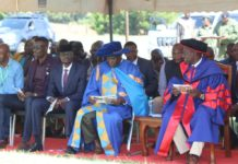 Deputy President William Ruto (right) during the graduation ceremony at Matili Technical Training Institute