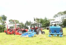 Some of the tractors availed by Governor Sang