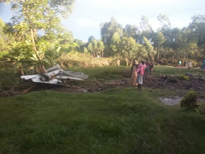 Residents' houses were destroyed due to the heavy rainfall