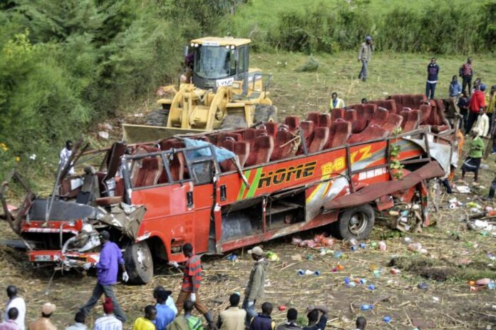 Wreckages of Homeboyz bus