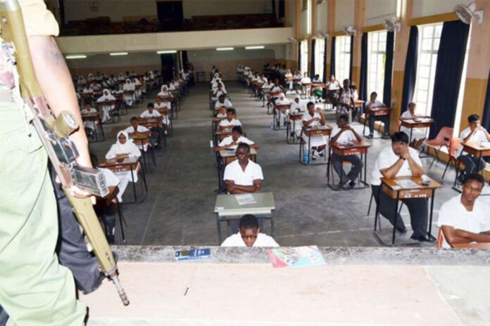 Students sitting for KCSE exams
