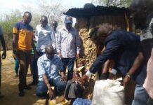 Donation of relief food in Nandi county