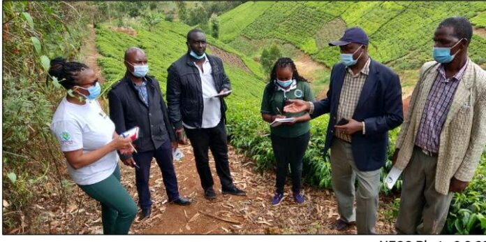 NECC -Secretary- Mr. -John -Chumo- with- his -team -during- a -fact -finding -mission- in -Nandi